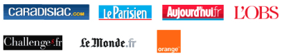 Caradisiac.com, MSN Actualits, Automoto.fr, Le Monde.fr, le Parisien.fr, Aujourd'hui.fr, Nouvel Obs.com, Lexpress.fr, Lexpansion.com, Challenges.fr